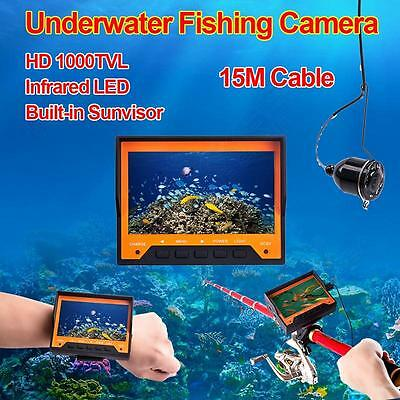 "Professional 4.3"" HD Display Fish Finder Underwater Fishing Video Camera Monitor"