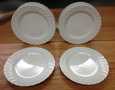 Johnson Brothers White Swirl Bread And Butter Plate Set Of 4 Exc
