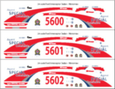 1/24 Scale Oc Transpo Special Constable Decals -  For Ford Interceptor