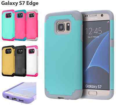 Shockproof Rugged Hybrid Rubber Hard Cover Case for Samsung Galaxy S7 edge New