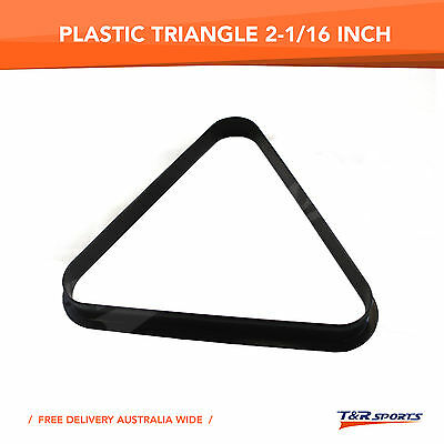 Pool Billiards Plastic 8 Ball Snooker 15 Ball Triangle Free Post 2-1/16 Inch