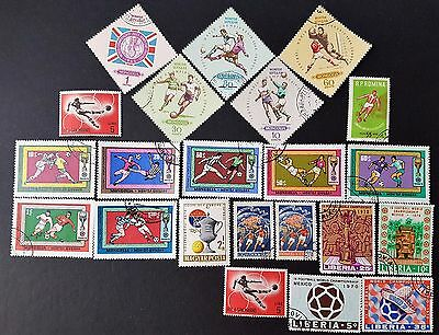 World Wide Football World Cup Soccer Mint and Used Stamps Collection