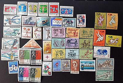 World Wide Sports Olympics Mint and Used Stamps Collection