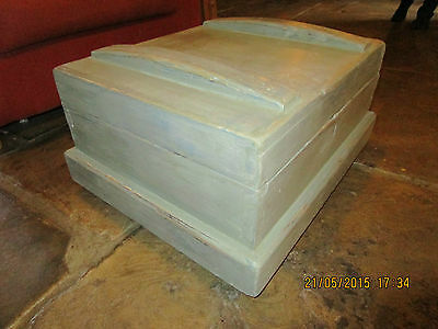 Antique Pine Trunk / Antique Pine Chest  - great Coffee Table. Painted + waxed