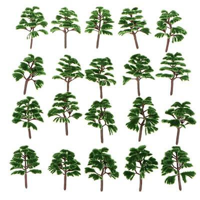 20pcs Train Layout Model Trees 1:200 Z Scale Garden Park Diorama Scenery