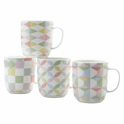 NEW Maxwell & Williams Geoclectic Mug, 460ml (Set of 4)