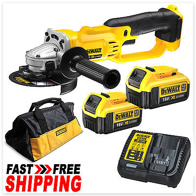 DeWalt 18V XR Lithium-Ion Cordless Angle Grinder 125mm Kit DCG412N-XE