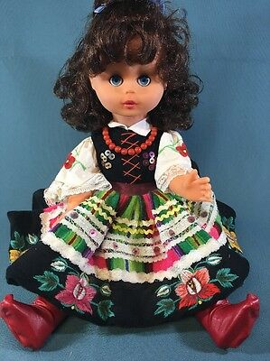 Vintage  Collectable Plastic Doll. Handmade Clothes