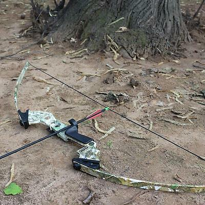 40lbs Archery Camo Takedown Straight Bow Hunting Fishing Practice Games Longbow