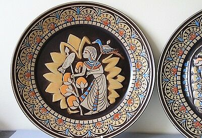 """Denby Limited Edition """"Egyptian Collection"""" Display Plates Boxed"""