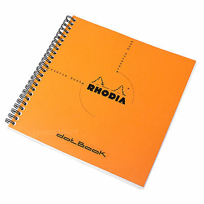 Rhodia Reverse Dot Book A5+ Orange Spiral Architects Graphic Art Grid Note Pad