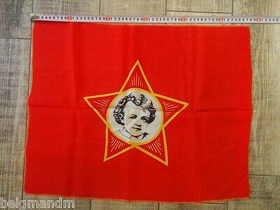 USSR Russian Soviet Flag Banner Young Lenin Propaganda Textile Poster Pioneer