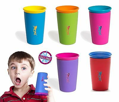 Wow Cup Non Spill Child/Toddler Drinking Cup 360° Sippy Cup Beaker (5 Colours)
