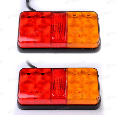 24 LED TRAILER LIGHT TAIL STOP LAMP SUBMERSIBLE BOAT CARAVAN Truck Tipper 12V