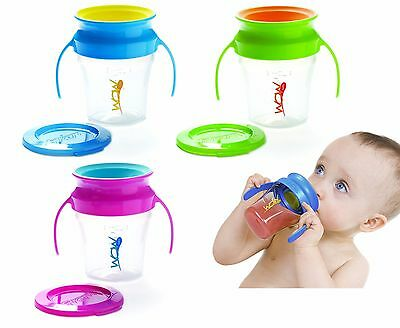 Wow BABY Cup Non Spill Child/Toddler Drinking 360° Sippy Cup Beaker (3 Colours)