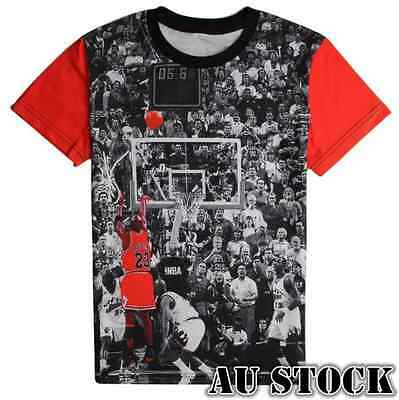 Michael Jordan 's LAST SHOT Basketball 3D Print Tops T-shirt Jersey KID ADULT