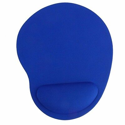 Blue mouse mat with wrist rest support