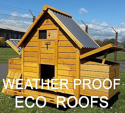 Chicken House Coop Run Hen House Poultry Nest Box Coops Rabbit Hutch Plastic