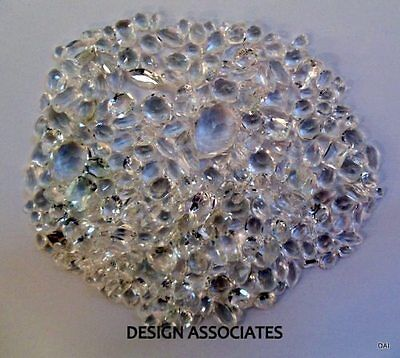 Diamond Quartz Faceted  Gemstone Parcel Over 100 Carats All Natural