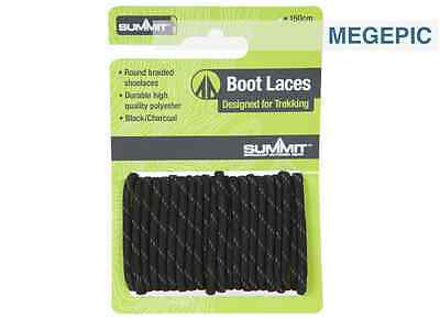 Black Boot Laces Summit Walking Hiking 120cm Long Strong