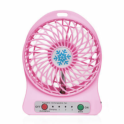 iProtect tragbarer Mini USB Ventilator mit Batterie in Pink