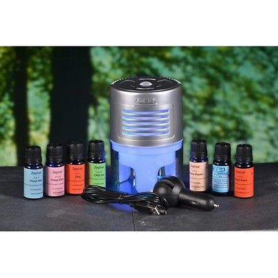 7 x 10ml Essential Oil Blends, 2 Diffusers, home, car,Air freshener. Car Plug in