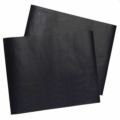 BBQ Grill Mat Set Of 2 Pack Non Stick Pad for Gas Easy Bake Cook Grate Cover DC
