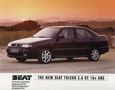 SEAT Toledo 2.0 GT 16V ABS Press Release/Photograph - 1994