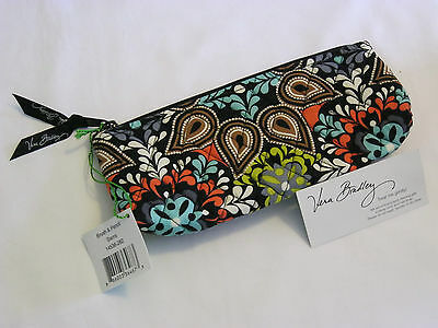 Vera Bradley SIERRA Brush & PENCIL Cosmetic CASE Pen POUCH for Backpack TOTE NWT