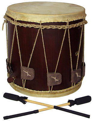 "Atlas MEDIEVAL ROPE TENSION DRUM, 13"" Head, 13.5"" high. From Hobgoblin Music"