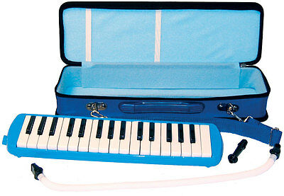 Scarlatti 32 Key MELODICA in BLUE. Keyboard style with blowpipes. From Hobgoblin