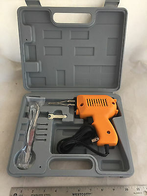 NEW Electric Lighted Soldering Iron Gun with Case and Tools 110V 150W 150 Watt