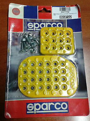 Pedaliera Sparco Universale 3 Pedali Gialla Tuning Set Of Pedals Yellow
