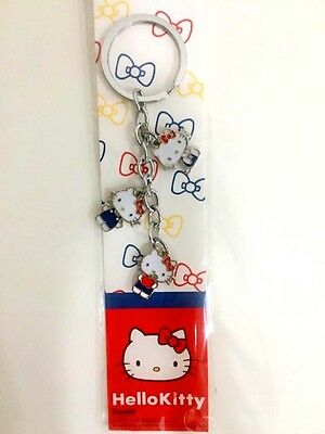 Hello Kitty Metal Keychain Sanrio Official Harajuku Japan Keyring Xmas Gift Red
