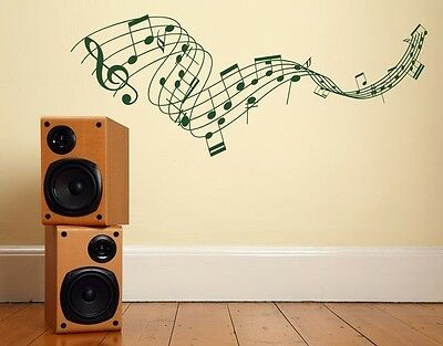 Music Staff - Highest Quality Wall Decal Sticker