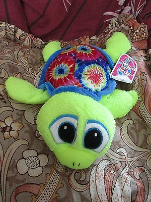 "Blue Patterned Turtle 13"" Soft Toy"
