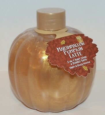 Bath & Body Works Marshmallow Pumpkin Latte 2 In 1 Bubble Bath Foam Wash 14.5Oz