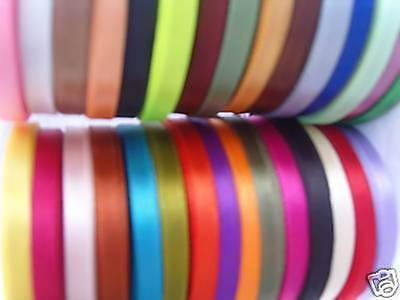 30 COLOURS 750 YARDS 10 MM Wholesale Offer RRP £50.00 30 ROLLS OF SATIN RIBBON