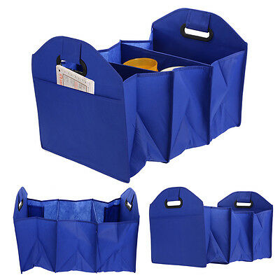 Boot Tidy Duty Collapsible Foldable Storage Box Car Trunk Organizer 3 Section
