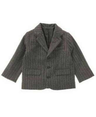NWT Janie and Jack UPTOWN HOLIDAY Gray Pinstripe Jacket  Coat 3 6 M