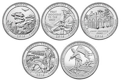 2016 National Park Quarters - Complete 10 Quarter P&D Set - US Mint **IN HAND**