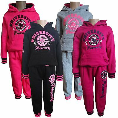 Girls 2 Pieces Outfit/ Set Hoodie Jacket ,Tracksuit Jogging Pants NEW 3-13y #220