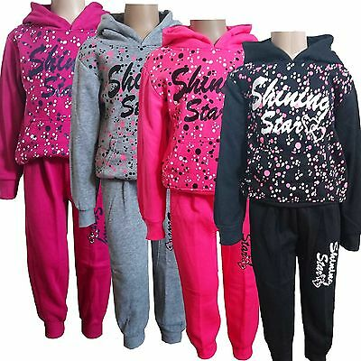 Girls 2 Pieces Outfit/ Set Hoodie Jacket ,Tracksuit Jogging Pants NEW 3-13y #221