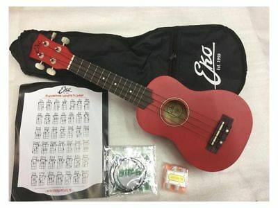 Eko Ukulele Soprano red  + custodia +corde + accordatore + prontuario accordi