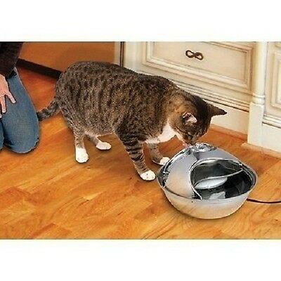 Pioneer Pet RainDrop Drinking Fountain Stainless Steel Veterinarian Recommeded