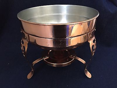 Vintage Brass Copper Bowl With Stand