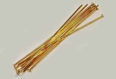 10 Pairs Gold-Plated 2 Inch Head Pins High QUality USA Manufactured Settings