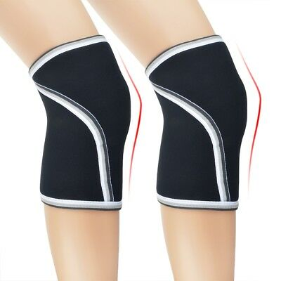 Knee Support Compression for Weightlifting Powerlifting Cross Fit 7MM Neoprene
