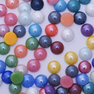 Mix color Half Round Pearls Glass Jewelry Supplies Decoration Phone Nail art