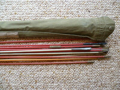 VINTAGE OLD H.E.C ELECTRICAL WIRE POLES, OLD TOOLS IN BAG, '1040mm' (B55)